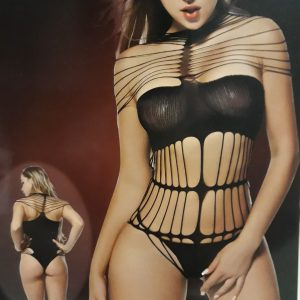 Csupa pánt erotikus fekete body