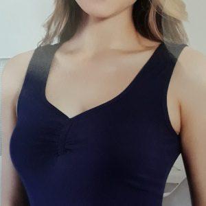 Női pamut trikó szélesebb vállpáttal