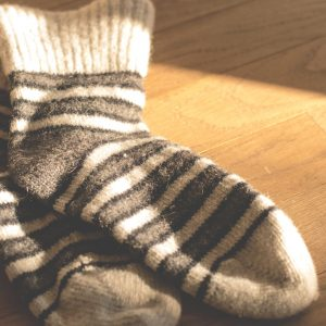 Gumi nélküli zokni