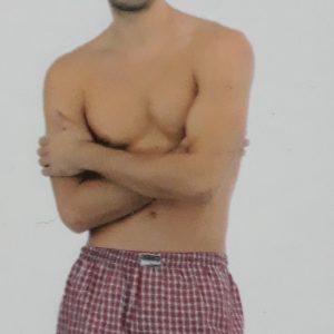 Bő szárú pamutvászon boxeralsó