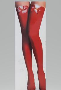 Piros combfix karácsonyi díszítéssel