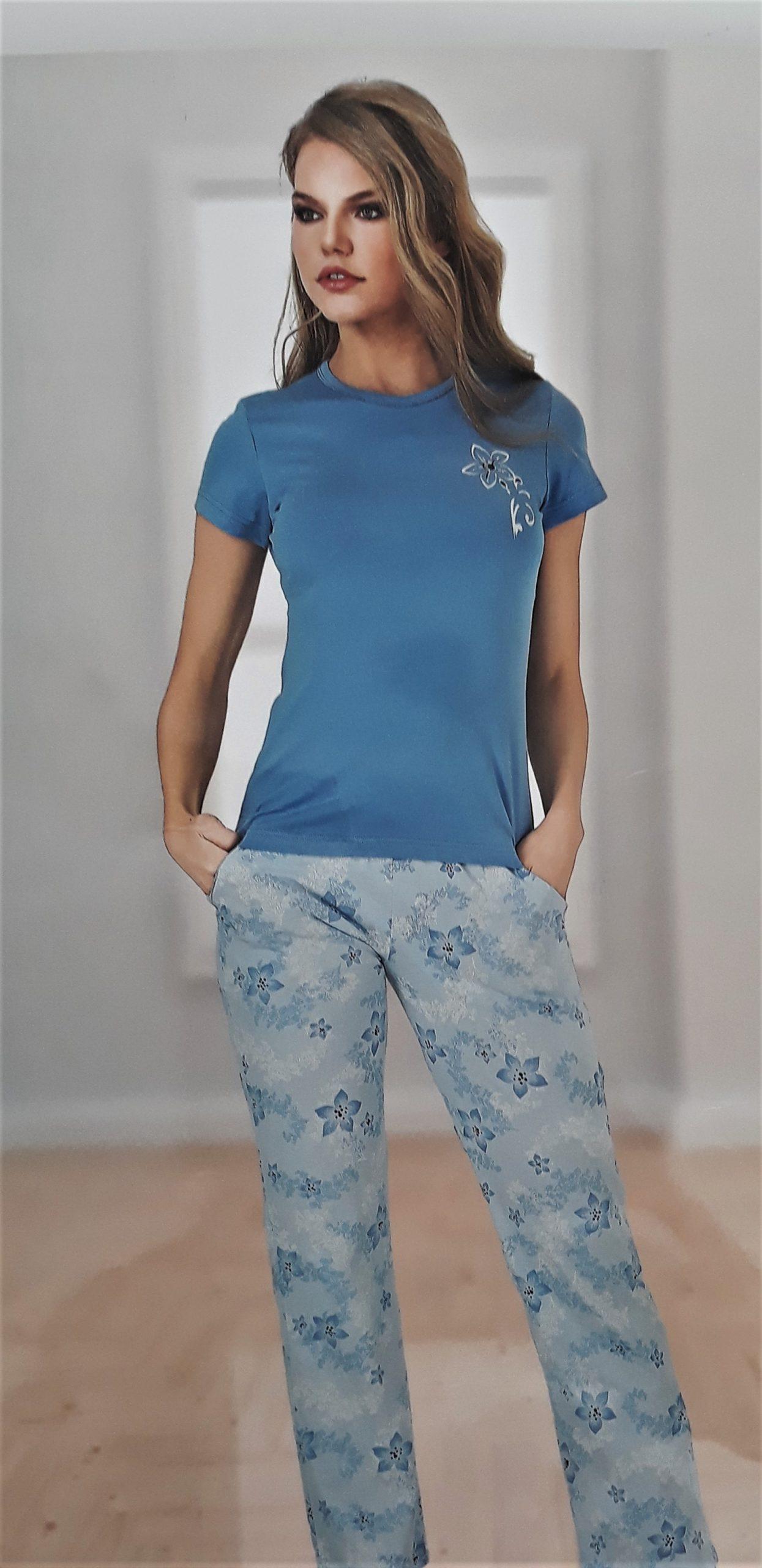 Női rövidujjú hosszúnadrágos modál pizsama