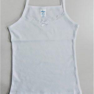 Lányka spagettipántos fehér trikó