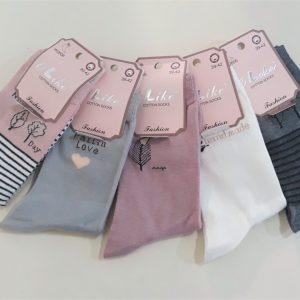 Női mintás pamut boka zokni több színben