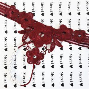 Inez gyöngyös nyitott tanga horgolt csipkés