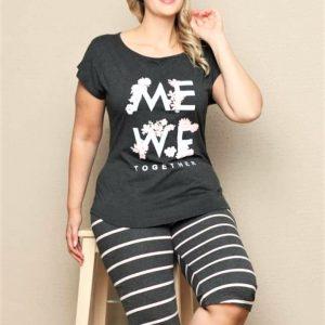 Nagyméretű női pizsama pamut
