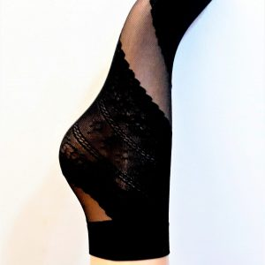 Női lycra bokafix csipkés mintával